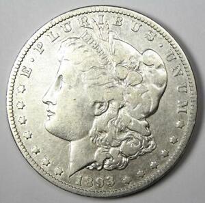 1893-O Morgan Silver Dollar $1 - VF Details - Rare Date Coin!