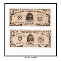 Lot of Two 1974 ANA Miami Convention Wooden Dollars