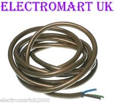 3 CORE GOLD LIGHTING CABLE FLEX WIRE 0.75MM 6 AMP LENGTH 5M