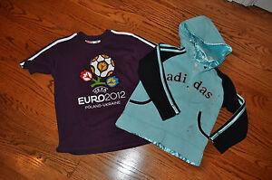 NWT!!Girls Lot of 2 ADIDAS Teal Hoodie & ADIDAS Euro T-Shirt  Size 5-6