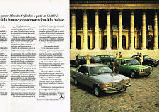 PUBLICITE  1980   MERCEDES BENZ      230 E & 230 CE  ( 2 pages)