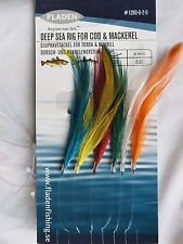 6 Packs Multi Colour feathers 6 hook size 2/0 fishing mackerel lures sea pollack