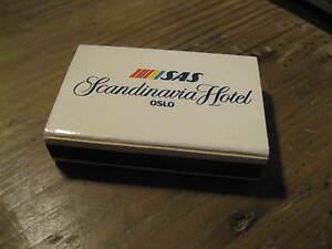 SAS Scandinavian Airlines Scandinavia Hotel Oslo Norway 1980's Matches Matchbox