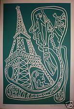 Yvon Taillandier sérigraphie signée art brut figuration libre