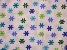 Toss Daisy Flowers Allover Cotton Flannel Fabric White