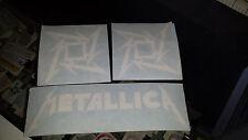 METALLICA STAR HEAVY METAL Rock Band Decals Sticker Vinyl Bumper SET of 3