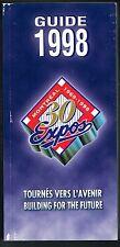 1998 Montreal Expos Baseball MLB Media GUIDE