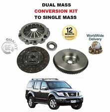FOR NISSAN PATHFINDER D40 2.5 2005-->ON CLUTCH + SOLID FLYWHEEL CONVERSION KIT