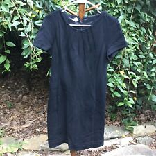 NEW Searle Dress Size 8 Black Solid Sheath Cap Sleeve Knee Length Career NWT