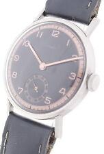 HUBER Art Deco Design - New Old Stock Stahl Herren-Armbanduhr ca. 30/40er Jahre