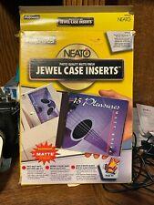 Fellowes Neato Slim Jewel Case Inserts 20 Matte Inserts
