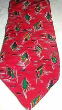 Ungaro Paris Silk Tie ~ Red Abstract ~ Made In Italy.
