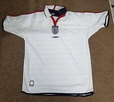 England National Soccer Team Adult large White Reversible Umbro Football Jersey