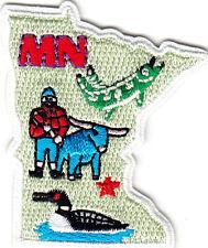 Minnesota State Shape iron On Patch Mn