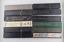 Vintage Straight Razor Boxes Diamond Hayashi Cape Henckels Kama