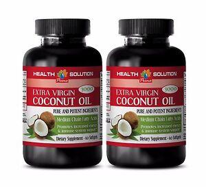 Fatty acid supplement -COCONUT OIL EXTRA VIRGIN 3000mg- Immune support diet -2 B