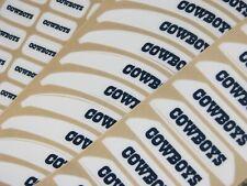 DALLAS COWBOYS Bumper Football Helmet Decal Set Qty (1) Set MINI Size 3M 20MIL