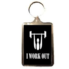 I Work Out - Novelty Keyring