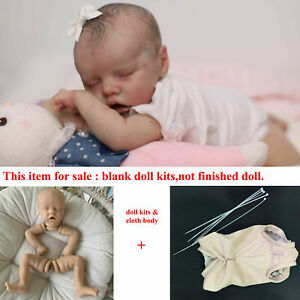 18inch Blank Reborn Doll Kits Sleeping Preemie Dolls DIY Vinyl Kit + Cloth Body