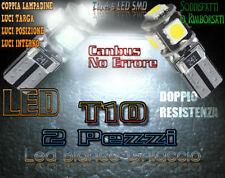 ALFA ROMEO 147 00-04 LUCI POSIZIONE TARGA INTERNO 5 LED T10 SMD BIANCO GHIACCIO