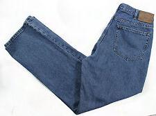 Eddie Bauer Jeans 34x34 Relaxed Straight Cotton Medium Stone Wash 5 Pockets EUC