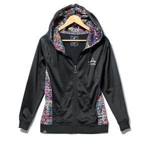 NEW Brookhaven Black Sky Zip Thru Hoodie Hooded Sweatshirt rainbow sporty hoody