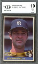 1984 Donruss Don Mattingly Rated Yankees Rookie Card BGS BCCG 10 Graded
