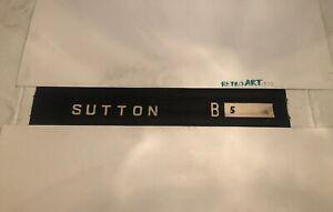 """Sutton B5 Header - Midland Red Sutton Garage Bus Destination Blind 1950's 35"""""""