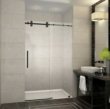 "Aston Global Langham 60"" x 75"" Frameless Sliding Shower Door - Oil Rubbed Bronze"