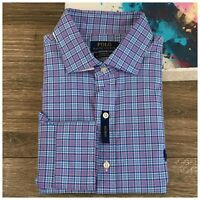 New Polo Ralph Lauren Shirt Mens Size L Long Sleeve Plaid Button Cotton Stretch