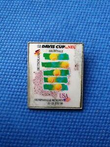 pin badge anstecknadel TENNIS Davis cup semifinal 1989 Germany vs US America