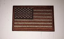 TACTICAL USA FLAG PATCH / AMERICAN FLAG TACTICAL PATCH BROWN/ TAN HOOK NEW