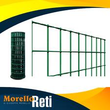 RETE PER RECINZIONE METALLICA PLASTIFICATA VERDE  MAGLIA 75X50 ML 25