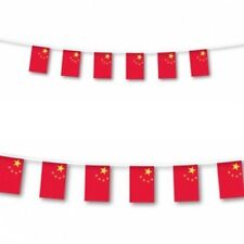 CHINA / CHINESE FLAG BUNTING LARGE 7 METRES