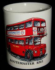 BN Routemaster RM1 Double Decker Bus Stoneware Mug, 1/2 pint mug, Bus Gift