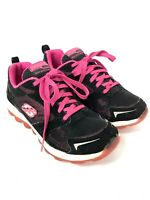 Girls Skechers Air Bizzy Sneakers - Black & Pink -Athletic Shoes Size 2 - F15-10