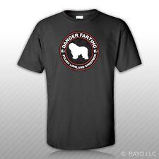 Danger Farting Polish Lowland Sheepdog T-Shirt Tee Shirt Free Sticker dog pet