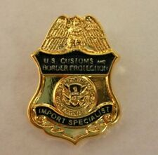 CBP - CUSTOMS BORDER PROTECTION PIN TIE TAC federal police obsolete ICE HSI FBI