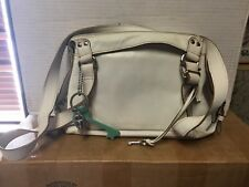 Fossil White Leather Hand Bag With (3) Charms L@@K!!!