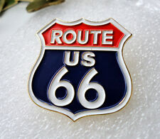 ZP469 RED Route 66 Icon of America Historic Highway lapel pin badge tac