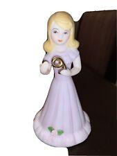 Enesco Growing Up Birthday Girls Brunette Porcelain Figurine Age 9 Euc