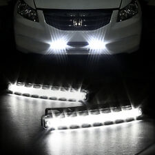 DC 12V Car SUV 8 LED Euro Daytime Running Light DRL Daylight Fog Lamp Day Lights