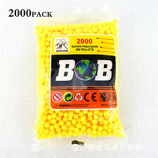 2000 PCS PLASTIC BB GUN PELLETS / BULLETS - 6MM - FITS MOST BB GUNS