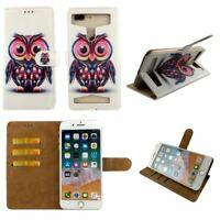 Premium Leather Mobile Phone Owl Wallet Book Case For BLU Tank Xtreme Pro -L