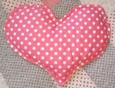 Handmade Pink Polka Dot, Rice Filled, Heart Shaped Heating and Cooling Pad