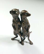 Vintage Miniature Bronze Meerkats