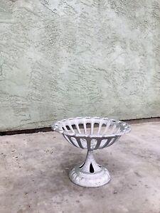 Antique Victorian Cast Iron Pedestal Planter Urn Vase - Outdoor/Indoor Planter