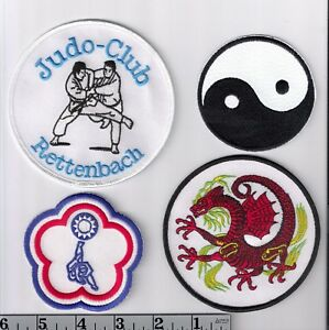 4 international Martial Arts patches > Judo, Kung Fu, etc. AWESOME DRAGON!