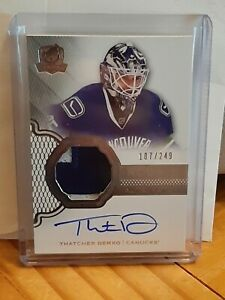 2017-18 UD The Cup Rookie Patch Auto Thatcher Demko 187/249 RC Autograph