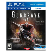Gungrave VR Loaded Coffin Edition PlayStation PS4 PSVR 2018 US English Sealed
